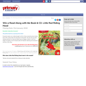 Win 1 of 10 A Read Along with Me Book & CD: Little Red Riding Hood