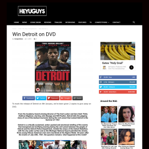 Win 1 of 2 Detroit on DVD