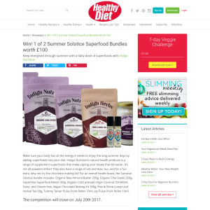 Win 1 of 2 Summer Solstice Superfood Bundles worth £100