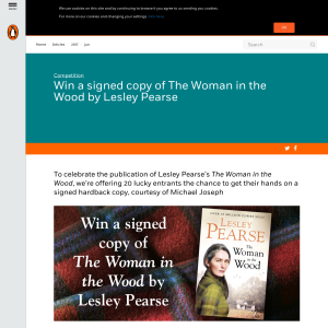 Win 1 of 20 The Woman in the Wood by Lesley Pearse