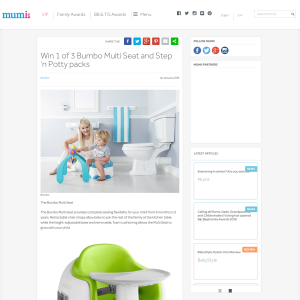 Win 1 of 3 Bumbo Multi Seat and Step 'n Potty packs