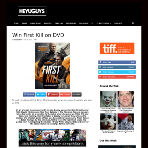 Win 1 of 3 First Kill on DVD
