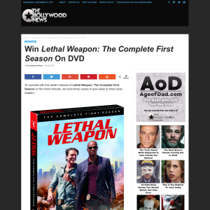 Win 1 of 3 Lethal Weapon: The Complete First Season on DVD