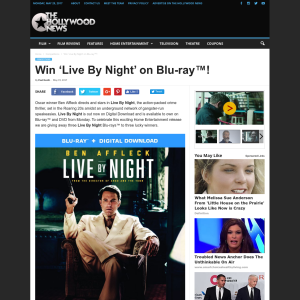 Win 1 of 3 'Live By Night' on Blu-ray