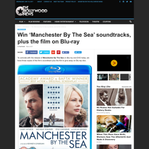 Win 1 of 3 Manchester By The Sea soundtrack and the film on Blu-ray