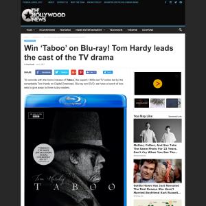 Win 1 of 3 Taboo on Blu-ray