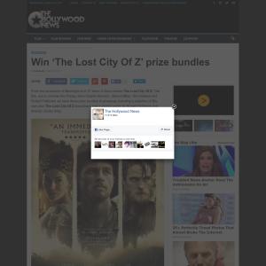 Win 1 of 3 The Lost City of Z merchandise bundle