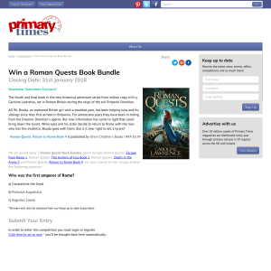 Win 1 of 3 The Roman Quests Book Bundle