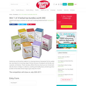 Win 1 of 4 Herbal Tea Bundles worth £80