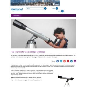 Win 1 of 5 Jessops Telescopes