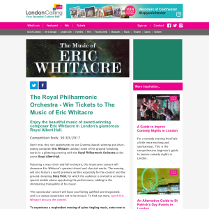 Win 1 of 5 Pairs of Tickets to The Music of Eric Whitacre