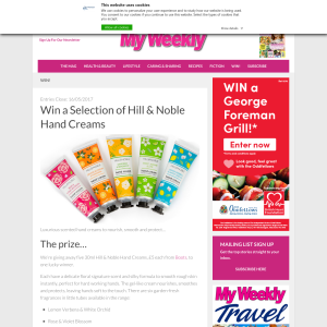 Win 1 of 5 Selection of Hill & Noble Hand Creams