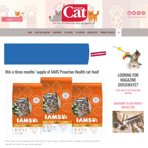 Win a 3 Months' Supply of IAMS Proactive Health Cat Food