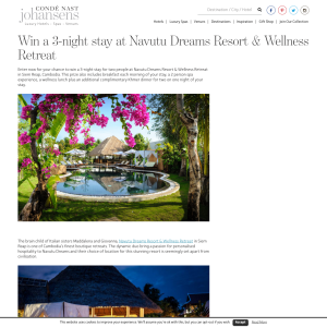 Win a 3-night stay at Navutu Dreams Resort & Wellness Retreat