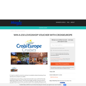 Win a £50 Love2Shop Voucher with CroisiEurope