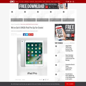 Win a 64GB iPad Pro
