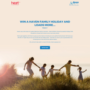 Win a 7 day family Haven Holiday