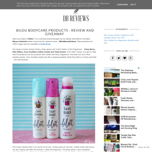 Win a Bilou Body Care Products