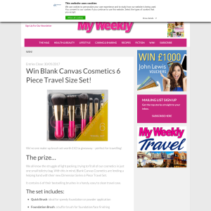 Win a Blank Canvas Cosmetics 6 Piece Travel Size Set