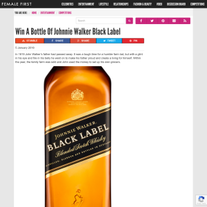Win A Bottle Of Johnnie Walker Black Label