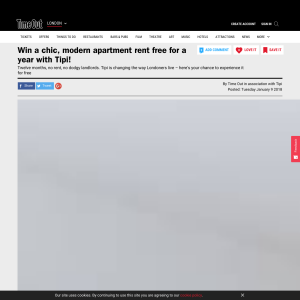 Win a chic, modern apartment rent free for a year with Tipi
