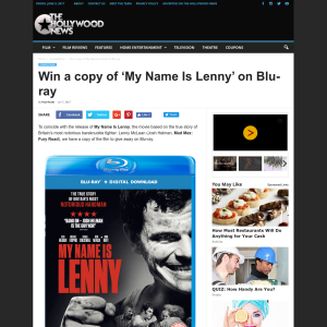 Win a copy of 'My Name Is Lenny' on Blu-ray