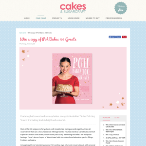 Win a copy of Poh Bakes 100 Greats