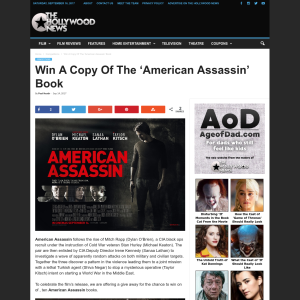 Win A Copy Of The 'American Assassin' Book