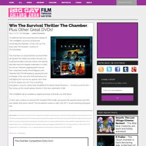 Win a DVD Bundle incl. The Chamber