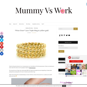 Win a Lace Triple Ring in yellow gold