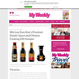 Win a Lee Kum Kee's Premium Oyster Sauce + Chinese Cooking Gift Hamper