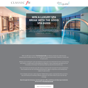 Win a luxury spa experience with The Good Spa Guide