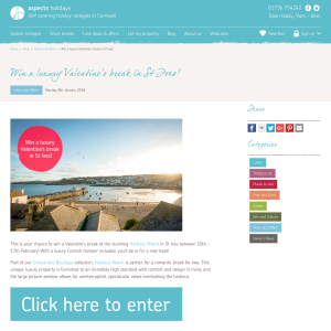 Win a Luxury Valentine's Break in St Ives