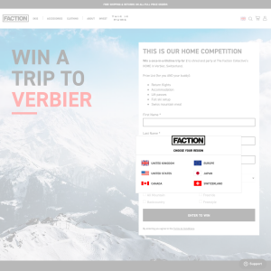 Win a once-in-a-lifetime trip for 2 to in Verbier, Switzerland
