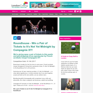 Win a Pair of Tickets to It's Not Yet Midnight by Compagnie XY