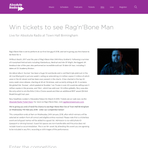 Win a pair of tickets to see Rag'n'Bone Man live at Town Hall Birmingham