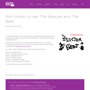 Win a pair of tickets to see The Selecter & The Beat