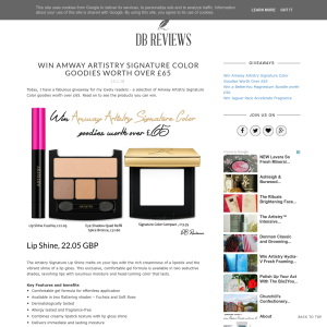 Win a selection of Amway Artistry goodies
