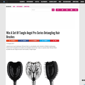 Win a set of Tangle Angel Pro Series Detangling Hair Brushes