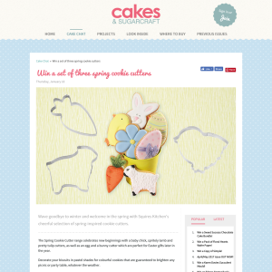 Win a set of three spring cookie cutters