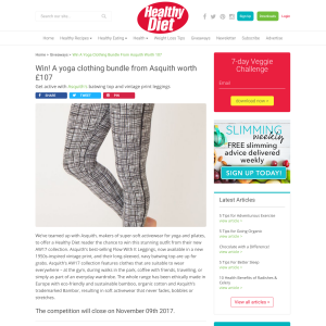 Win a Yoga Clothing Bundle From Asquith Worth £107