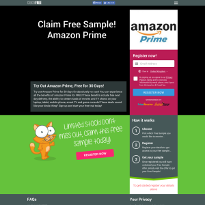 Win Amazon Prime for 30 days