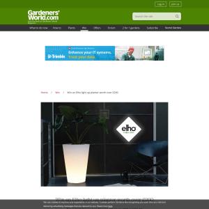 Win an Elho light up planter worth over £200
