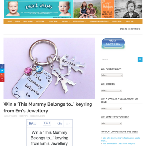 Win an Inscribed Keyring From Em's Jewellery