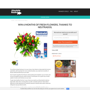 Win Fresh Flowers for six months
