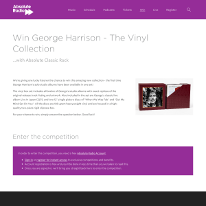Win George Harrison - The Vinyl Collection