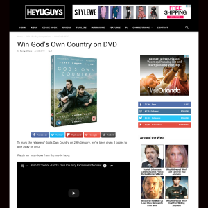 Win God's Own Country on DVD