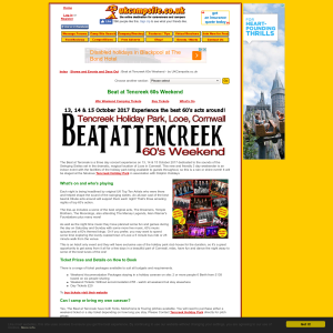 Win Pair of Tickets to Beat at Tencreek 60s Weekend