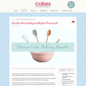 Win the ultimate baking bundle from Mason Cash