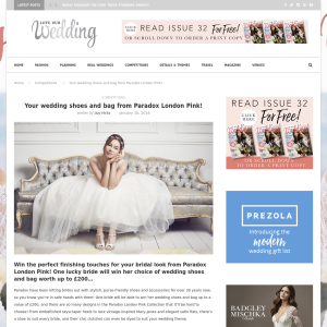 Win Wedding Shoes and Bag from Paradox London Pink